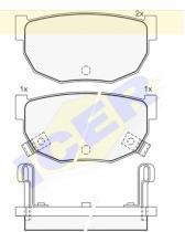 Icer Brakes 140444 - JGO.PASTILLAS S/A.