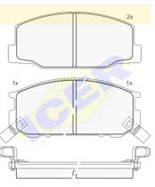 Icer Brakes 140501 - JGO.PASTILLAS S/A.