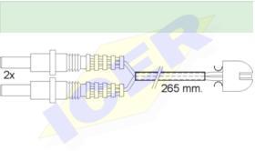 Icer Brakes 610169E - JGO.SENSORES DESGASTE FRENOS MERCEDES