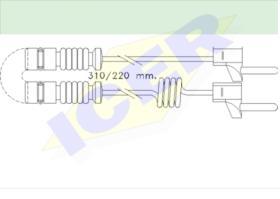 Icer Brakes 610221E - SENSOR DESGASTE