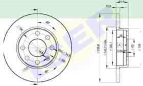 Icer Brakes 78BD12402 - JGO.DISCOS FRENO FORD/MAZDA