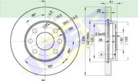 Icer Brakes 78BD14402 - JGO.DISCOS FRENO OPEL/PONTIAC