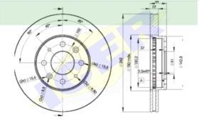 Icer Brakes 78BD22322 - JGO.DISCOS FRENO OPEL/DAEWO/CHEVROLET