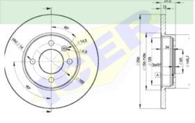 Icer Brakes 78BD33922 - JGO.DISCOS FRENO AUDI/VW