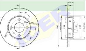 Icer Brakes 78BD34652 - JGO.DISCOS FRENO AUDI/VW