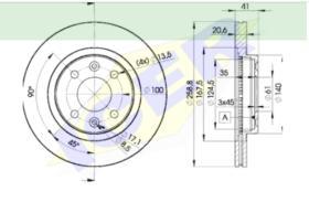 Icer Brakes 78BD35502 - JGO.DISCOS FRENO FIAT/LANCIA/ALFA