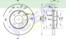 Icer Brakes 78BD39752 - JGO.DISCOS FRENO AUDI/VW