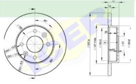 Icer Brakes 78BD47052 - JGO.DISCOS FRENO CIT/PEU