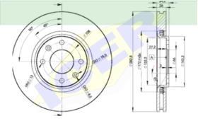 Icer Brakes 78BD47522 - JGO.DISCOS FRENO CIT/PEU 260 MM