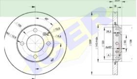 Icer Brakes 78BD53032 - JGO.DISCOS FRENO FIAT/LANCIA/ALFA