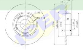 Icer Brakes 78BD01182 - JGO.DISCOS FRENO MERCEDES