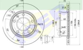 Icer Brakes 78BD01871 - DISCO FRENO MERCEDES (UNIDAD)